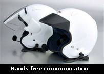 Motorcycle helmet headset